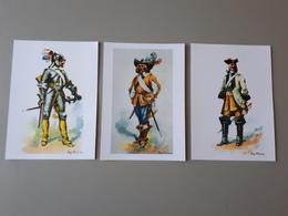 3 Affiches De Cuirassiers 1635, 1636 Et 1730 & - Autres