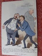 CPA Peinte à La Main Caricature Satirique Politique COMBES / BRIAND Radical Socialiste Illustrateur BOBB (2 Scans) - People