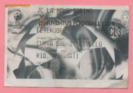 Biglietto D'ingresso Stadio Juventus Feyenoord 2002 - Tickets - Vouchers