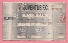 Biglietto D'ingresso Stadio Juventus Sk Rapid 1996 - Eintrittskarten