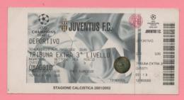 Biglietto D'ingresso Stadio Juventus Deportivo 2002 - Tickets - Vouchers