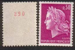 France N° 1536 B** Roulette Avec N° Rouge Marianne De Cheffer,  0.30 - Rollen