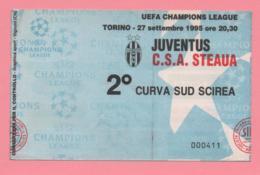 Biglietto D'ingresso Stadio Juventus C.S.A. Steaua 1995 - Biglietti D'ingresso