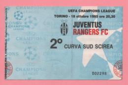 Biglietto D'ingresso Stadio Juventus Rangers FC 1995 - Biglietti D'ingresso
