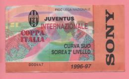 Biglietto D'ingresso Stadio Juventus  Internazionale 1997 Coppa Italia - Tickets D'entrée