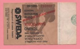 Biglietto D'ingresso Stadio Torino Sampdoria 1986 (coppa Italia Quarti Di Finale) - Tickets D'entrée