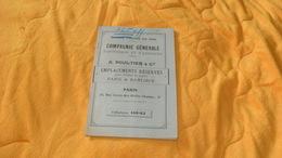 LIVRET CATALOGUE COMPAGNIE GENERALE D'AFFICHAGE ET D'ANNONCES..A. POULTIER & CIE..PARIS..EMPLACEMENTS RESERVES POUR AFFI - Vieux Papiers