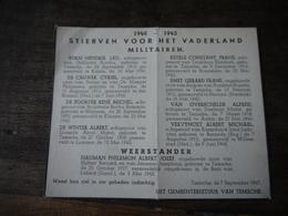 Aalst Wo2 1940 1945 Temse Doodsprentje Militairen Burgers Overzicht - 1939-45