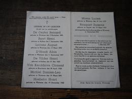 Aalst Wo2 1940 1945 Wetteren Doodsprentje   Burgers Overzicht September 1944 - 1939-45