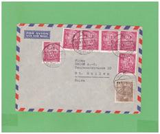 1954 ESPANA AIR MAIL COUVERT WITH 7 STAMPS TO SWISS - 1931-Hoy: 2ª República - ... Juan Carlos I