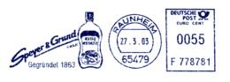 Freistempel 1989 Essigessenz - Marcophilie - EMA (Empreintes Machines)