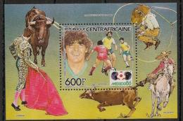 Centrafricaine - 1985 - Bloc Feuillet BF N°Yv. 79 - Football World Cup Mexico 86 - Neuf Luxe ** / MNH / Postfrisch - Zentralafrik. Republik