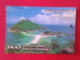 POSTAL POST CARD QSL RADIOAFICIONADOS RADIO AMATEUR GRUPPO ALFA TANGO ITALIA THAILAND THAILANDIA THAÏLANDE ASIA VE FOTOS - Tarjetas QSL