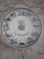 * Ieper - Ypres - Yper * Porseleinen Bord (Delfts Blauw) Van Ieper En Alle Deelgemeenten, Perfecte Staat - Delft (NLD)