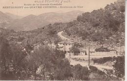 06 - VILLEFRANCHE SUR MER - Route De La Grande Corniche - Restaurant Des Quatre Chemins - Villefranche-sur-Mer