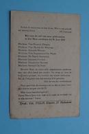BID Voor De Ziel Van Onze GILDEZUSTERS In Den Heer Ontslapen Dit H. Jaar 1933 ( Zie / Voir Photo ) Druk FELIX Hoboken ! - Avvisi Di Necrologio