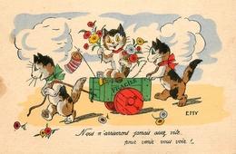 """Germaine BOURET - EMY - Illustrateur - """" Chats Humanisés """" - Cat Katze - N°123 - Bouret, Germaine"""