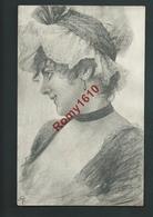Jolie Fille  Souriante Avec Coiffe Dentelle.  Carte Signée De 2 Initiales. Monogramme AT.  Circulé En 1902.  2 Scans. - Illustrateurs & Photographes