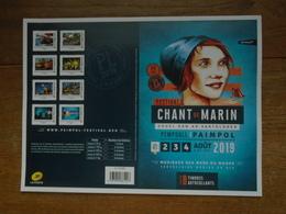 Assez Rare Collector Des Chant De Marin De Paimpol 8 Super Timbres Lettre Verte Neuf** Collector Pas Plier - France