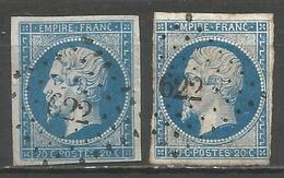 FRANCE - Oblitération Petits Chiffres LP 622 CARVIN (Pas-de-Calais) - Marcophilie (Timbres Détachés)