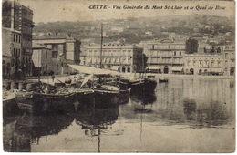 34 Cette Sète Vue Générale Du Mont St Clair Et Le Quai De Bosc Bateaux - Sete (Cette)
