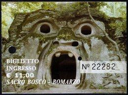 ITALIA BOMARZO (VT) 2019 - AREA SACRO BOSCO - BIGLIETTO D'INGRESSO - Tickets D'entrée