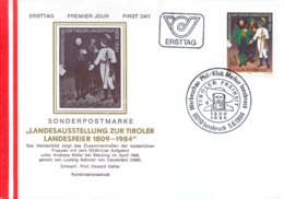 Austria 1984 FDC Provincial Exhibition On The Tyrolean Anniversary 1809 Victory Of Andreas Hofer Against The French - Storia