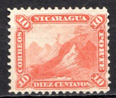 NICARAGUA - 1869-77 - N° 6 - 10 C. Rouge - (Bonnet Phrygien Au Sommet Du Volcan Momotombo) - Nicaragua