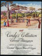 Etiquette De Vin // Afrique Du Sud // Cabernet Sauvignon 1988 - Sud Africa