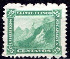 NICARAGUA - 1869-77 - N° 7 - 25 C. Vert - (Bonnet Phrygien Au Sommet Du Volcan Momotombo) - Nicaragua