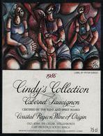 Etiquette De Vin // Afrique Du Sud // Cabernet Sauvignon 1986 - Sud Africa