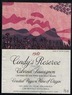Etiquette De Vin // Afrique Du Sud // Cabernet Sauvignon 1982 - Sud Africa