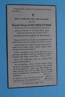 DP Emiel VAN DEN EYNDE () Niel 27 Nov 1863 - 24 April 1937 ( Zie / Voir Photo ) ! - Avvisi Di Necrologio