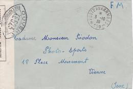 Cachet Poste Aux Armées 100 - 1939 - Censure XE 523 - Ouvert Par L'autorité Militaire - Marcophilie (Lettres)