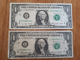 2 Billets De 1 Dollard Américain De 1974 Et 1977 - Stati Uniti