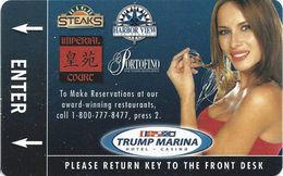 Trump Marina Casino - Atlantic City NJ - Hotel Room Key Card - Inovative Manufacturer Mark - Hotel Keycards
