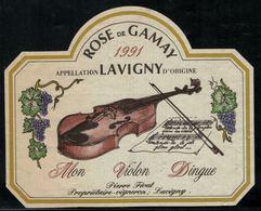 Etiquette De Vin // Rosé De Gamay, 1991, Mon Violon Dingue - Violini