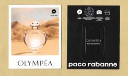 Carte Parfumée Avec Patch Perfume Card OLYMPEA * PACO RABANNE * R/V *** 1 EX - Modern (from 1961)