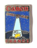 Superbe Pin's CANON - FRANCE - Le Satellite HOPE - Carte De France - Zamac - Drago - I404 - Marcas Registradas