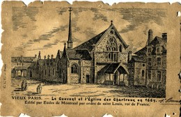 75006 Paris Vieux Paris C.L.C  Le Couvent Et L'Eglise Des Chartreux Format Parchemin - Arrondissement: 06