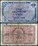 Germany - 1 Deutsche Mark 1948 Ro. 232 VF Lemberg-Zp - 1 Mark