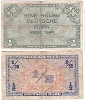 Germany - 1/2 Deutsche Mark 1948 Ro. 230 VF 2 Lemberg-Zp - [ 5] Ocupación De Los Aliados