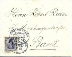 Bahnpost Konstanz-Basel 1906 Sur Entier Postal, Ambulant. Voir 2 Scan - Germany