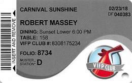 Carnival Cruises - Cruise Ship Room Key / ID Card - Cartes D'hotel