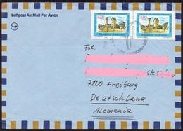 Argentinien 1982 MiNr. 1456 (2) Stadtzentrum Von San Carlos De Barilochel  Auf Luftpostbrief Von BUENOS AIRES - EZEIZA - Luftpost