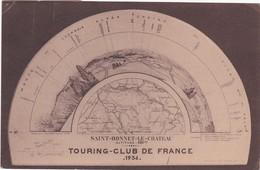 F42-021 INAUGURATION DE LA TABLE D'ORIENTATION DE SAINT BONNET LE CHÂTEAU OFFERTE PAR LE TOURING CLUB DE FRANCE - Francia