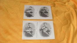 LOT DE 2  CARTES POSTALES ANCIENNES CIRCULEES DE 1903../ SERENADE DE MANDOLINE..N°2 ET 3..A. BERGERET..CACHET + TIMBRE - Bergeret