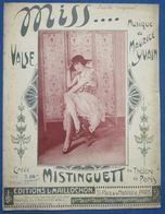 CAF CONC PIANO GF MAURICE YVAIN PARTITION MISS...VALSE MISTINGUETT PARIS 1920 ILL PIDOT +PHOTO STUDIO SIGNÉE - Música & Instrumentos