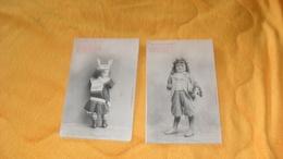 LOT DE 2  CARTES POSTALES ANCIENNES NON CIRCULEES DATE ?../ SOUVENIRS DE JEUNESSE...A. BERGERET.. - Bergeret
