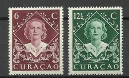 CURACAO 1948 Michel 286 - 287 Queen Juliana MNH - Curaçao, Antilles Neérlandaises, Aruba